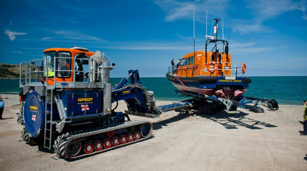 Launch and Recovery System - bespoke polyurethane products for RNLI