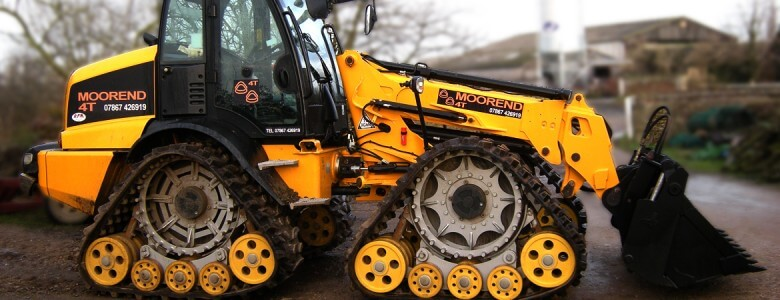 Polyurethane wheels for the 4-Track Articulated 3.2 tonne Telehandler