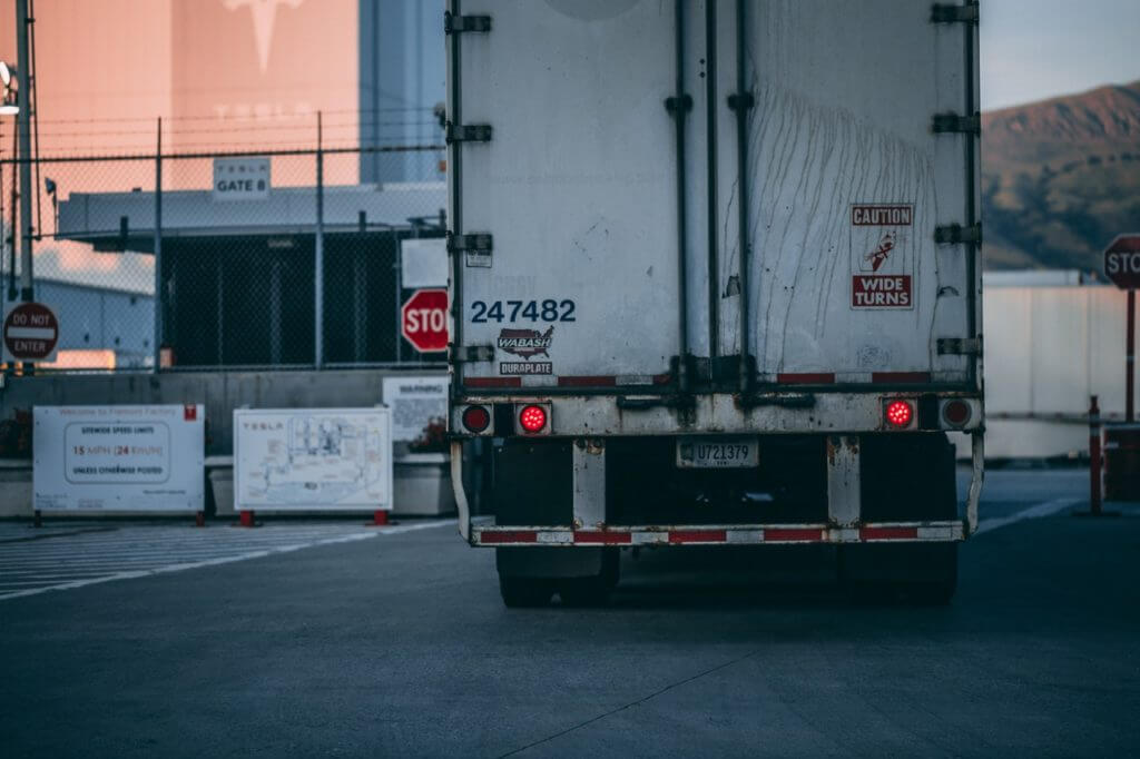 custom mud flaps on a lorry/HGV
